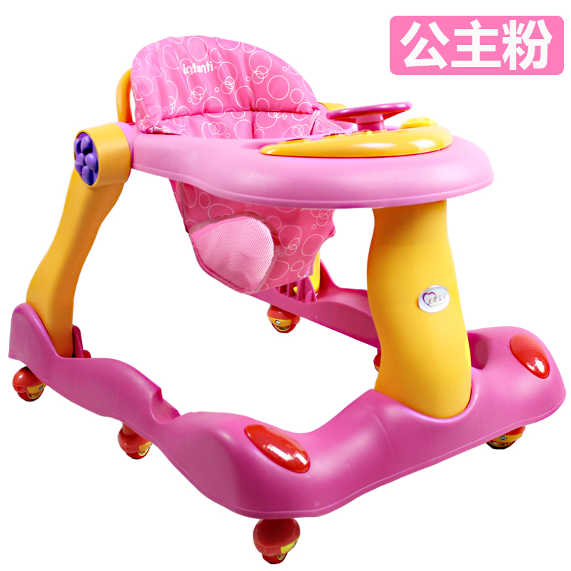 Multifunctional Baby Child U-type Learning Walker with Mute Wheels Anti Rollover Car Baby Walker with Music Walking Assistant foldable baby learning multifunctional baby walker with 6 wheels anti rollover walker car walking assistant music light 7 18 m