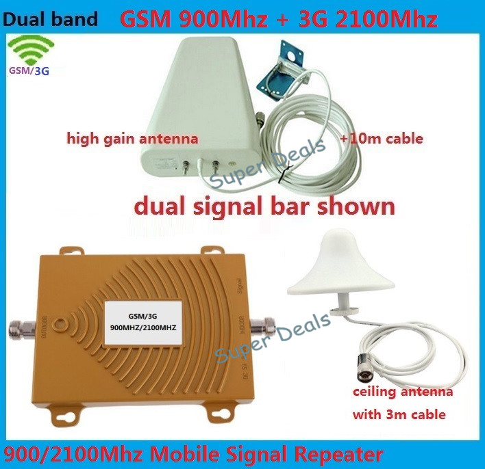 Amplificateur de répéteur de Signal Mobile de répéteur de GSM de LTE 2G 3G, amplificateur de téléphone de 900 MHz 2100 MHz