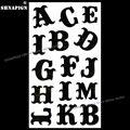 SHNAPIGN временный боди-арт Английский алфавит буквы флэш-тату наклейка 10*17 см водонепроницаемый хна тату Рождество Бесплатная доставка