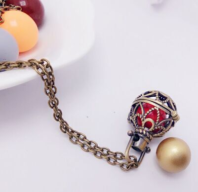 SHIYING flower bronze -cage ball design pattern hot angel necklace Jewelry Hollow out Maternity Women