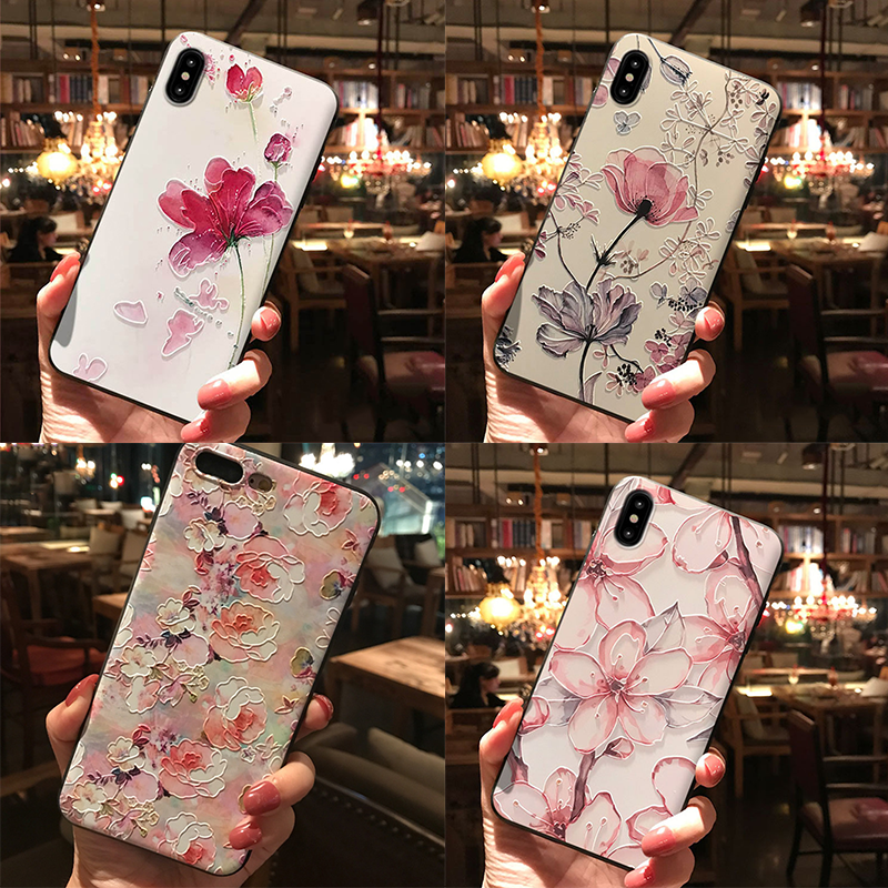 3D Relief Floral Covers For Huawei Mate 20 10 P8 P9 P10 P20 P30 Lite Pro P Smart 2019 Y5 Y6 Y9 2018 TPU For Huawei P20 Lite Case