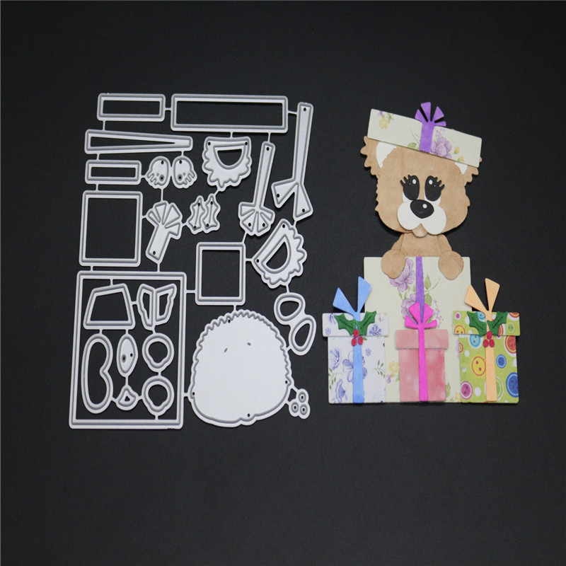 Stitching Gifts Bear Metal Cutting Dies Stencils for DIY Scrapbooking Album Decorative Embossing Hand on Paper Card 2018 New