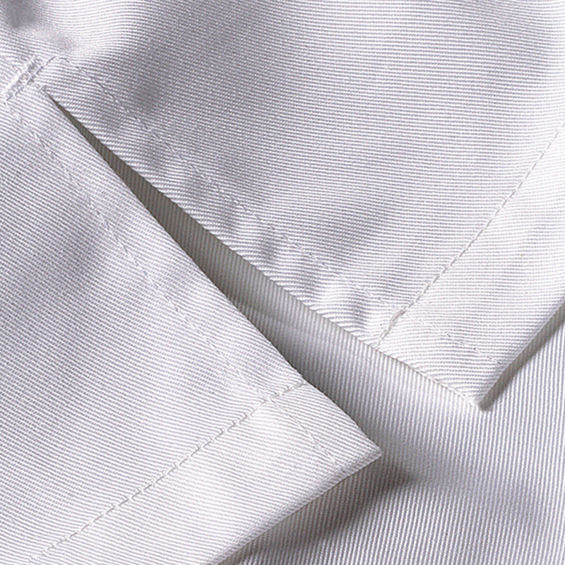 Black White Long Sleeve Chef Shirt D74-8