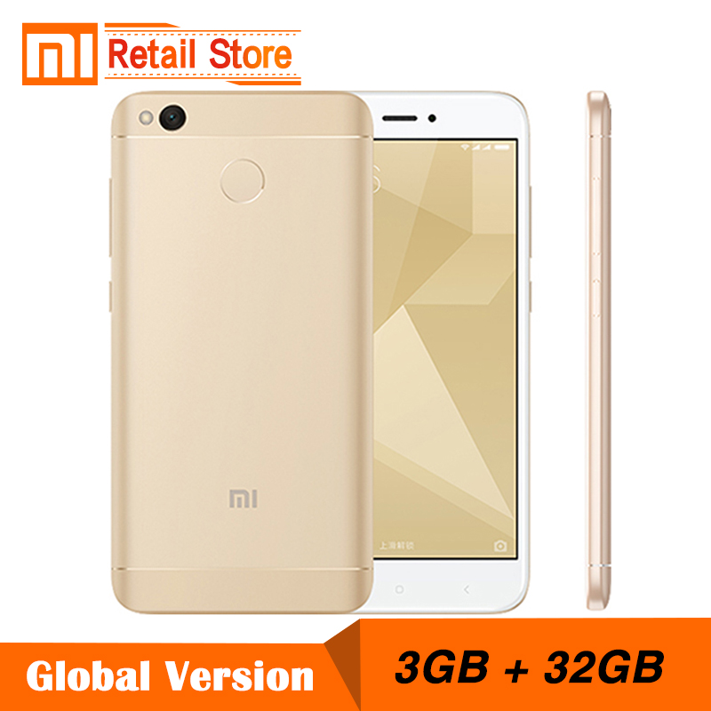 global version xiaomi redmi 4x 3gb ram 32gb rom mobile. Black Bedroom Furniture Sets. Home Design Ideas