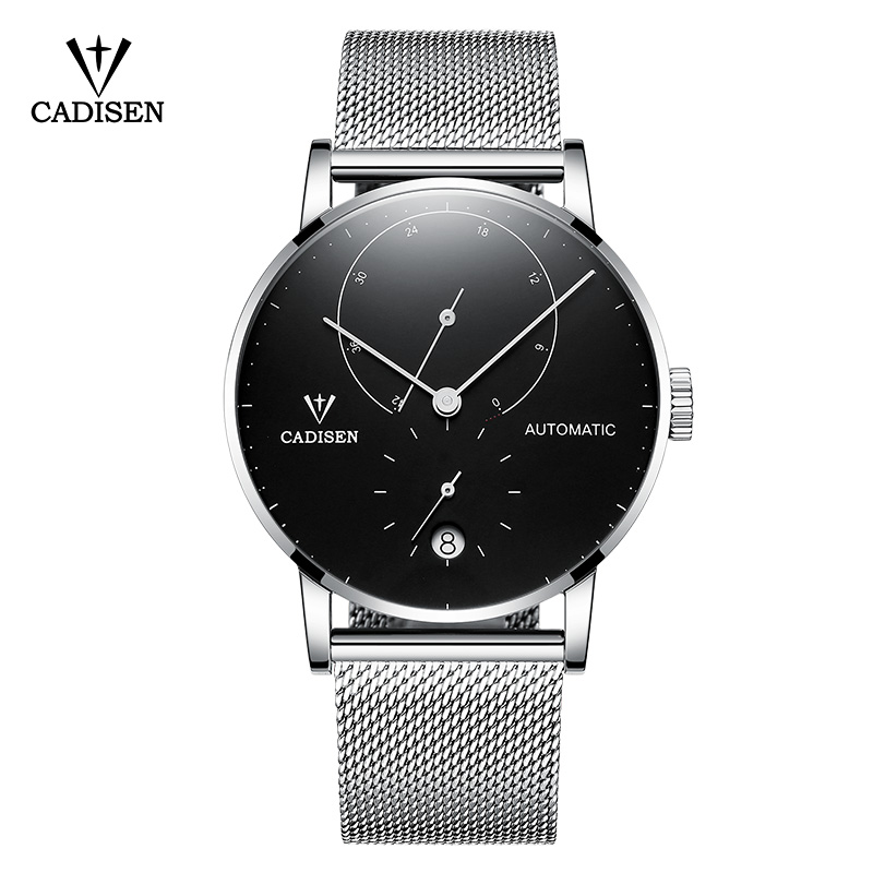 Mens Watches CADISEN 2018 Top Luxury Brand Automatic Mechanical Watch Men Full Steel Business Waterproof Fashion Sport Watches cadisen automatic mechanical mens watches top brand luxury full steel watch men business waterproof fashion male clock rose gold