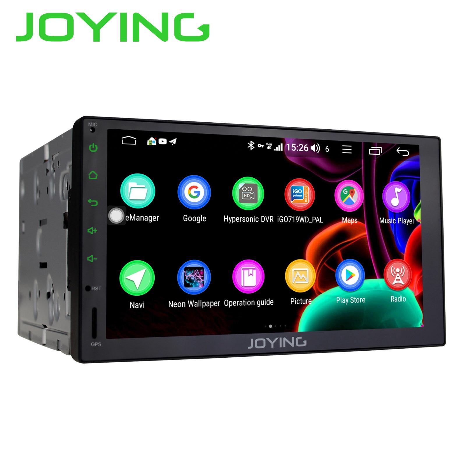 JOYING 2 rádio do carro um din jogador Octa Núcleo 4GB + 4G DSP 64GB Android 8.1 Suporte GPS unidade de cabeça estéreo universal SWC multimedia player