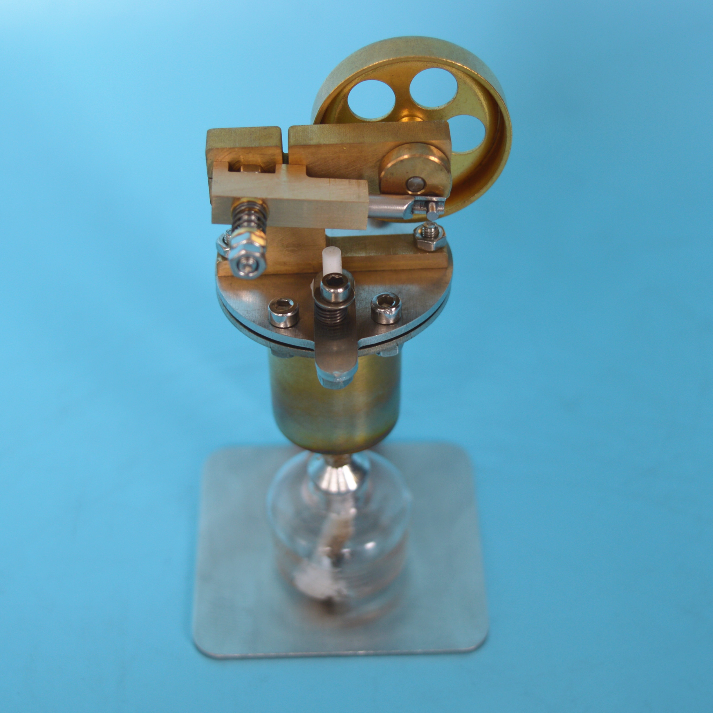 Steam Engine Model Mini All Copper Boiler Small Steam Engine Alcohol Lamp Heating QX-M-ZQJ-06
