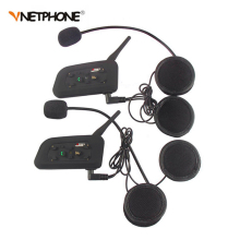 2 unids vnetphone v6 motocicleta bluetooth intercomunicador del casco de auriculares 1200 m moto intercomunicador bt interfono inalámbrico para 6 pilotos