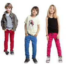 Hot Sale Children Unisex Pants For Girls Boys Pants For 2-6 Years Kids Pencil Trousers