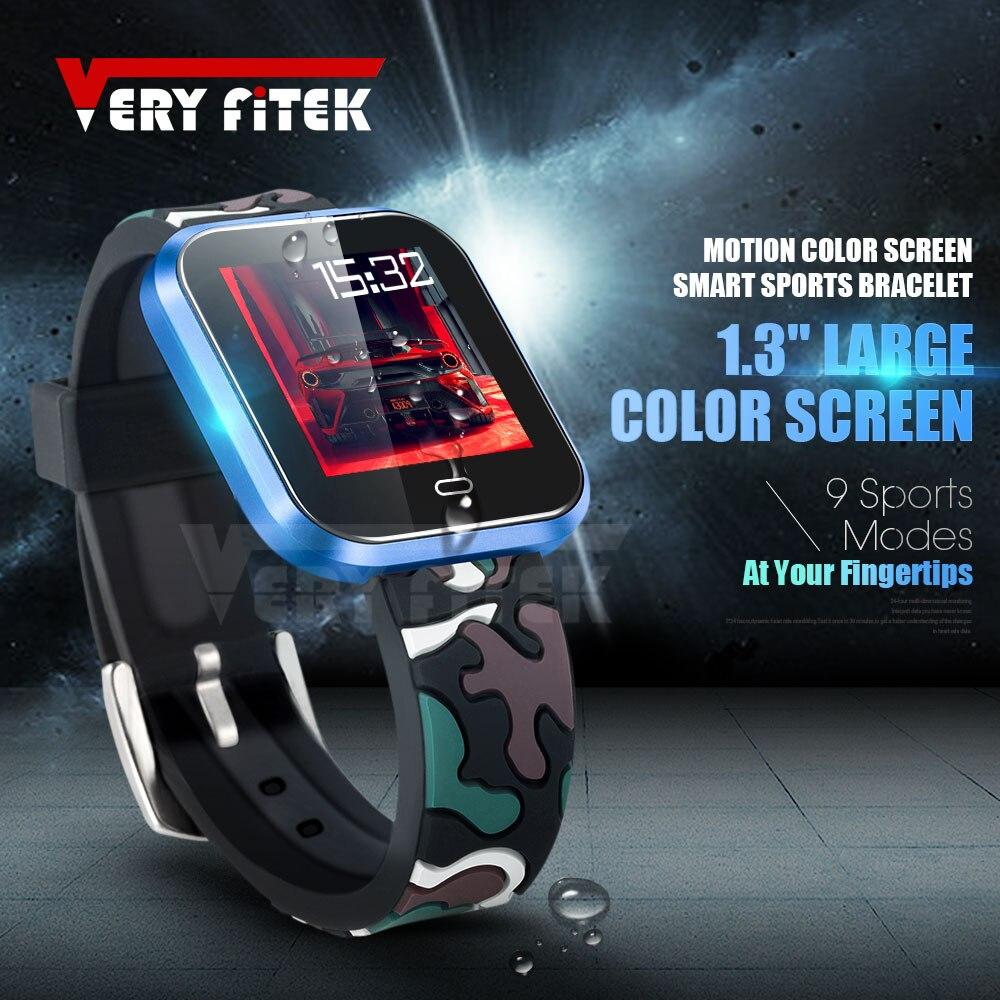 VERYFiTEK leopardo presión arterial Sport SmartWatch Monitor de ritmo cardíaco Fitness Tracker hombres mujeres Smart Watch para IOS Android