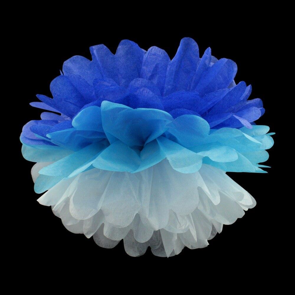 10pcsPack 15cm20cm25cm mixed colors Tissue Paper Pom Poms For