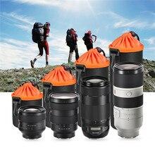 Saco DSLR Lente Da Câmera À Prova D' Água de alta Qualidade Grosso Acolchoado Protetor Lente da câmera Saco Caso Bolsa para DSLR Nikon Canon Sony Lense