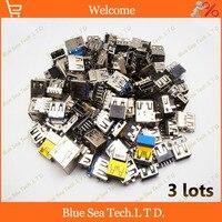 3*116 modles PC Portátil USB Jack Socket 3.0 USB jack Conector USB 2.0 niños Para ACER/ASUS/HP/Lenovo/Toshiba/Sony...