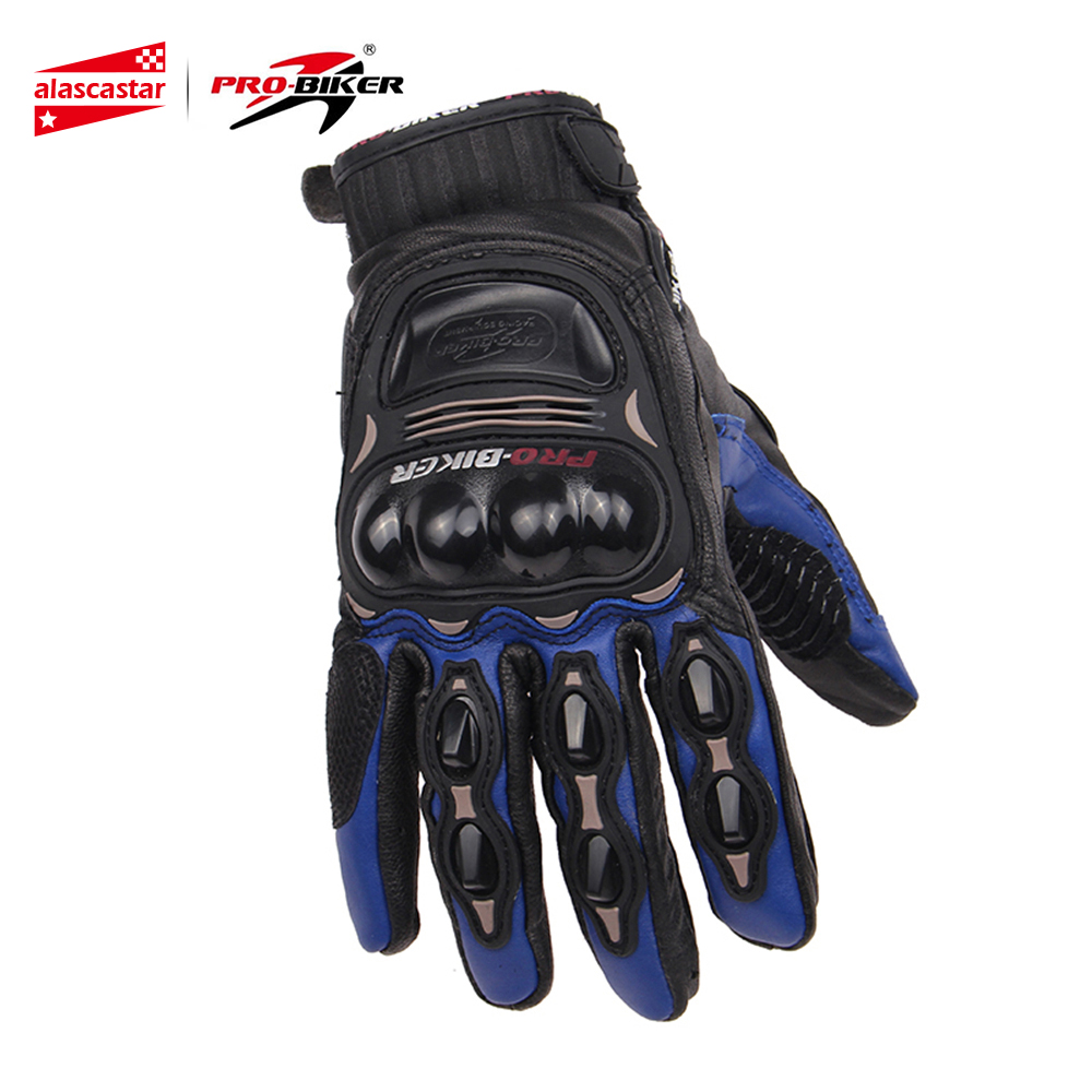 PRO BIKER Motorcycle Gloves Genuine Goat Leather Motocross Off Road Dirt Bike Racing Gloves Men Women Windproof Riding Gloves