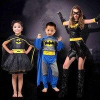 Hero Movie Batman Cosplay Boys Jumpsuits Kids Children Girls Dress Fancy Halloween Party Costumes