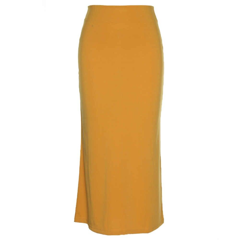 e026e838fb ¿ZAN  estilo OL falda lápiz de cintura alta-tobillo longitud cremallera  larga de