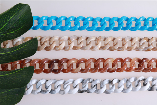 Mix Colors Resin Bag Strap Chains Diy Accessories Ornament Purse Frame Handbag Replacement Straps Plastic