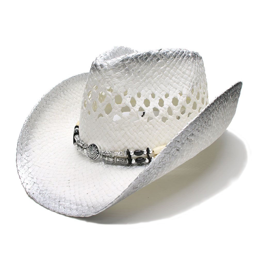 78bb3f45854e6 FREE SHIPPING LUCKYLIANJI Retro Women s Men s Summer Straw Beach Wide Brim  Cowboy Western Cowgirl Hat Hollow