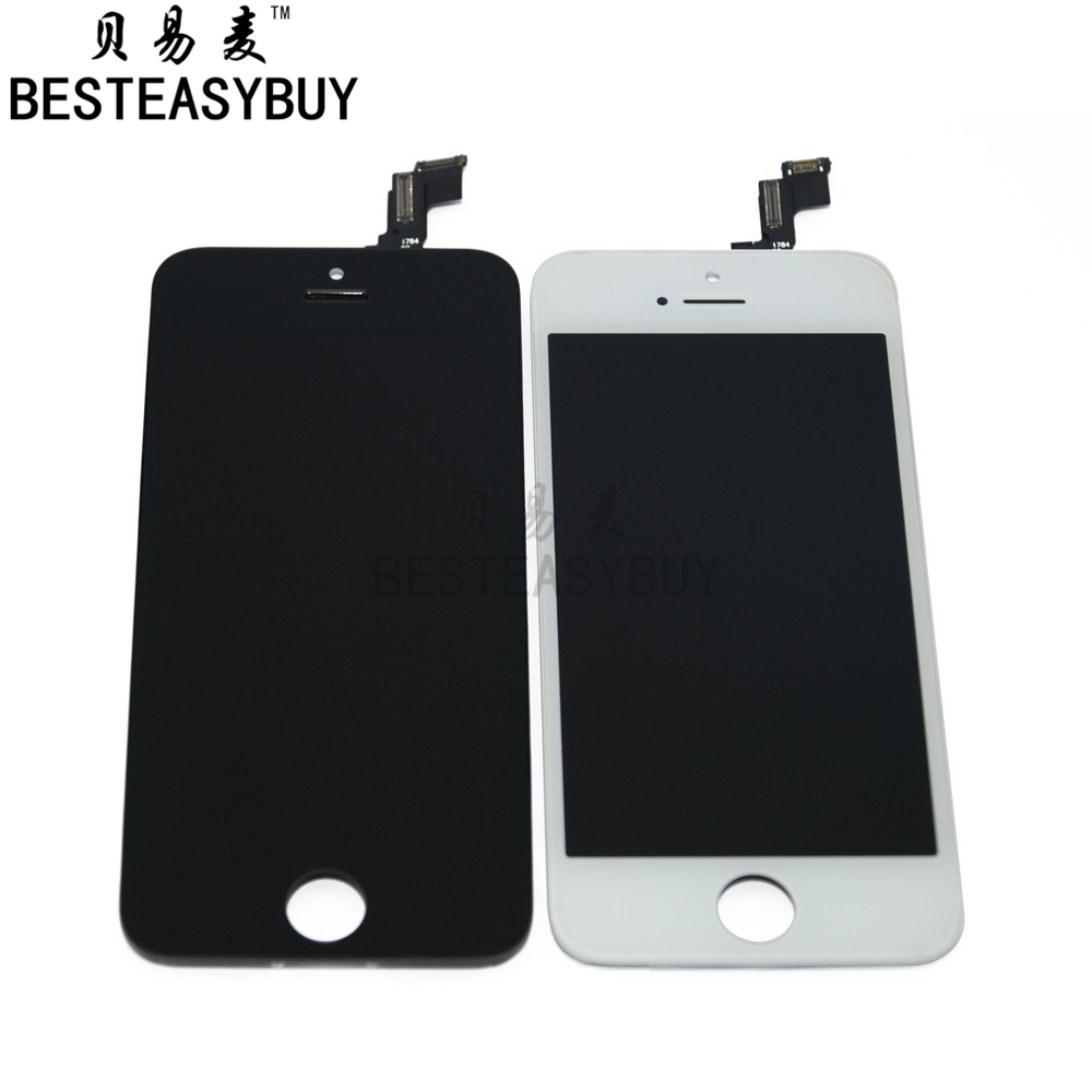 BESTEASYBUY 10pcs/lot A quality for iPhone 5C lcd display touch screen assembly Black color free shipping