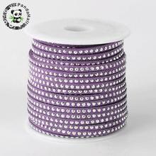 3x2mm; alrededor de 20 yardas/rollo Venta CALIENTE del Faux Suede Cord Thread para Abalorios Fabricación de Joyas accesorios Cuerda Suave De Aluminio Cabujones