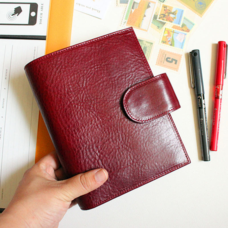 Yiwi A7 A6 Genuine Leather Business Notebook Spiral Time Planner Book Diary Personal Agenda Organizer Binder Planner Agenda sketchbook diary agenda planner organizer planner spiral notebook a5 planner binder address book notebook filofax exercise book