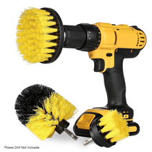 3Pcs/Set Electric Drill Brush Kit Plastic Round Cleaning For Carpet Glass Car Tires Nylon Brushes Power Scrubber z40