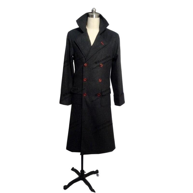 2016 Sherlock Holmes Men Winter Warm Cape Coat Outfit