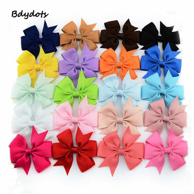 "20Pc 3"" Baby Girl Toddler Hair Bows Alligator Clip Grosgrain Ribbon Headband Infant Headband Lace Hairband Flower Headdress"