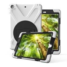 Caso Para Apple iPad 9.7 pulgadas 2017 Nuevo modelo A1822 A1823, ZVRUA Safe Kids Armadura A Prueba de Golpes de Silicona Suave + Tapa Dura