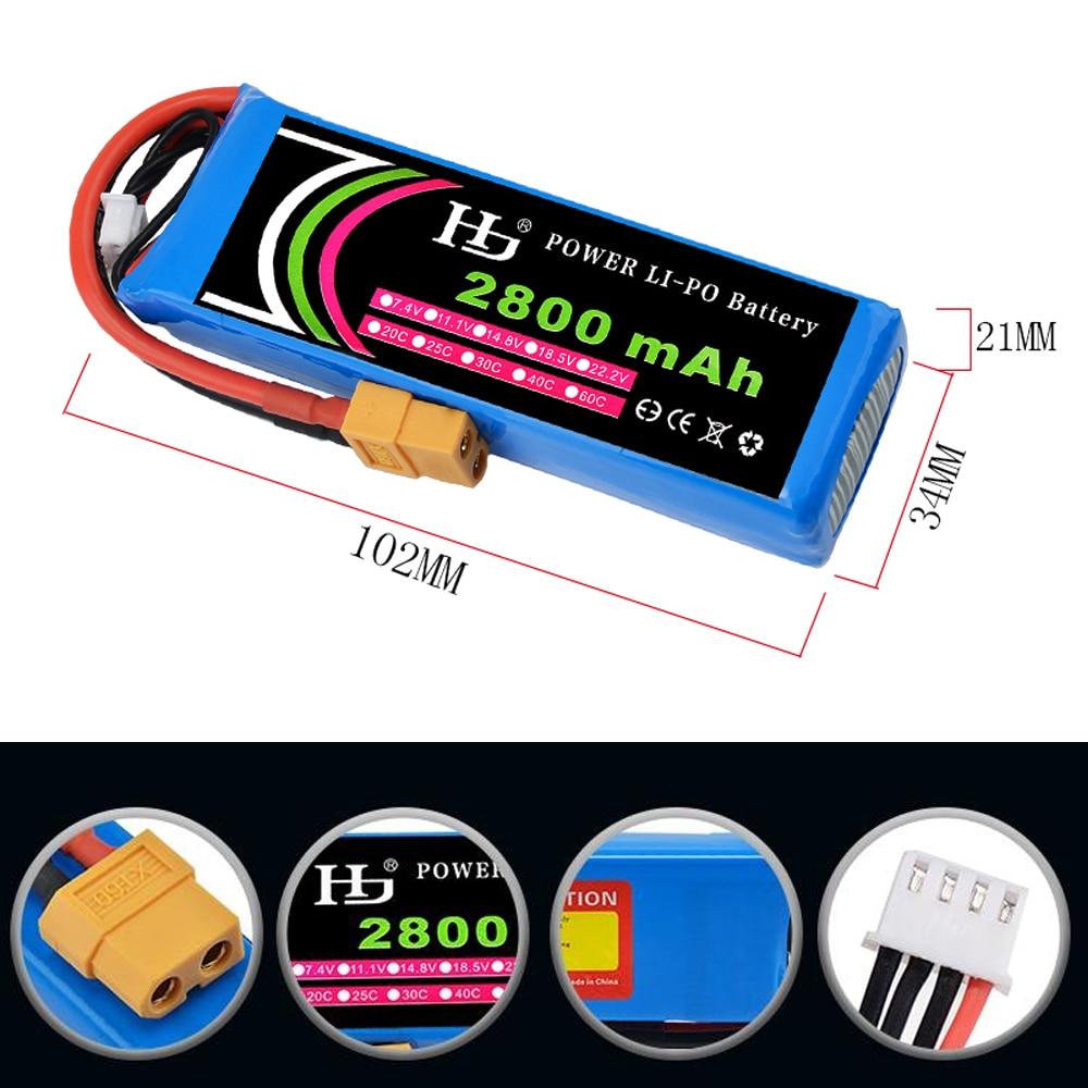1pcs 11.1V 2800mAh 40c 3S XT60 Plug Lipo Battery For Cheerson CX-20 / Wltoys V3031pcs 11.1V 2800mAh 40c 3S XT60 Plug Lipo Battery For Cheerson CX-20 / Wltoys V303