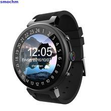 Mediatek Smochm No Pulso 16 gb 2 gb Câmera 3g Vida Liga Rodada de Couro À Prova D' Água Adulto Gps Rastreador Inteligente Android Telefone Do Relógio