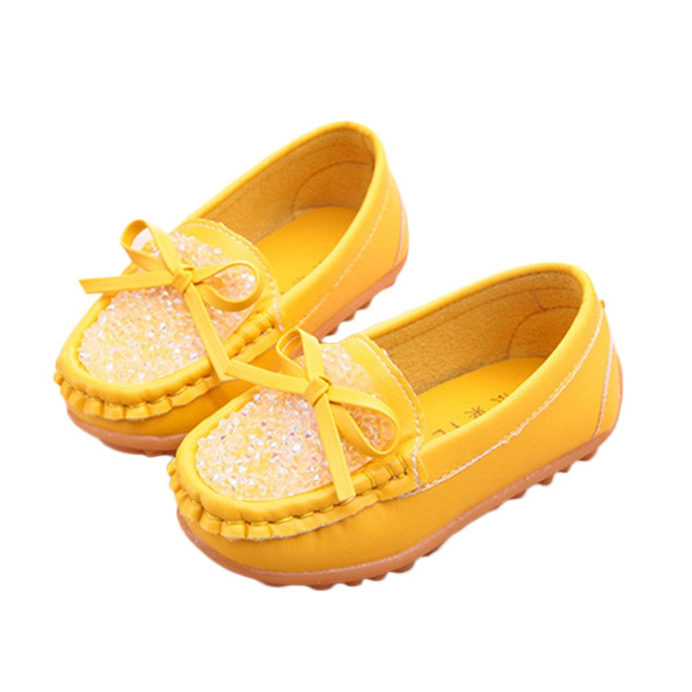 New Summer Autumn Children SneakersShoes Soft Leather Shoes For Girls Kids Lightweight Slip On Flat Casual Bowknot Peas Shoes
