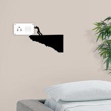 Creative Home Decor Creative Power Switch Sticker Wall Decoration Decal Vinyl Adesivo Home Decor Mural Art DIY Room Decor Y-96