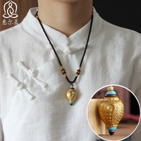 TOP Pocket mascot Buddhism Tibetan Greco Buddhist efficacious Mascot gilding copper Secret weapon Conch Gawu Amulet Pendant