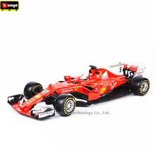Bburago 1:18 Ferrari F1 NO5 manufacturer authorized simulation alloy car model crafts decoration collection toy tools