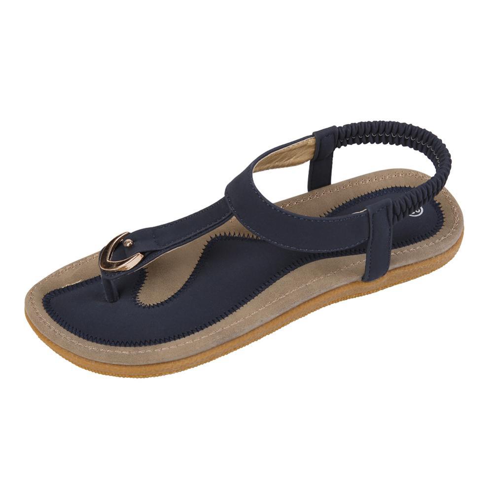 Women Sandal Slippers Flat-Heel Single-Shoes Summer New Casual Soft-Bottom Size-35-42