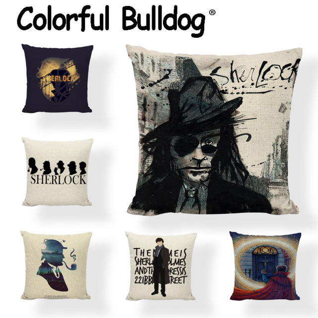 Wholesale Character Cushion Cover Letter Solid Famous Uk Detective Pillow Covers Two Black Man Car Seat Decorative Pillows Case In Cushion Cover From