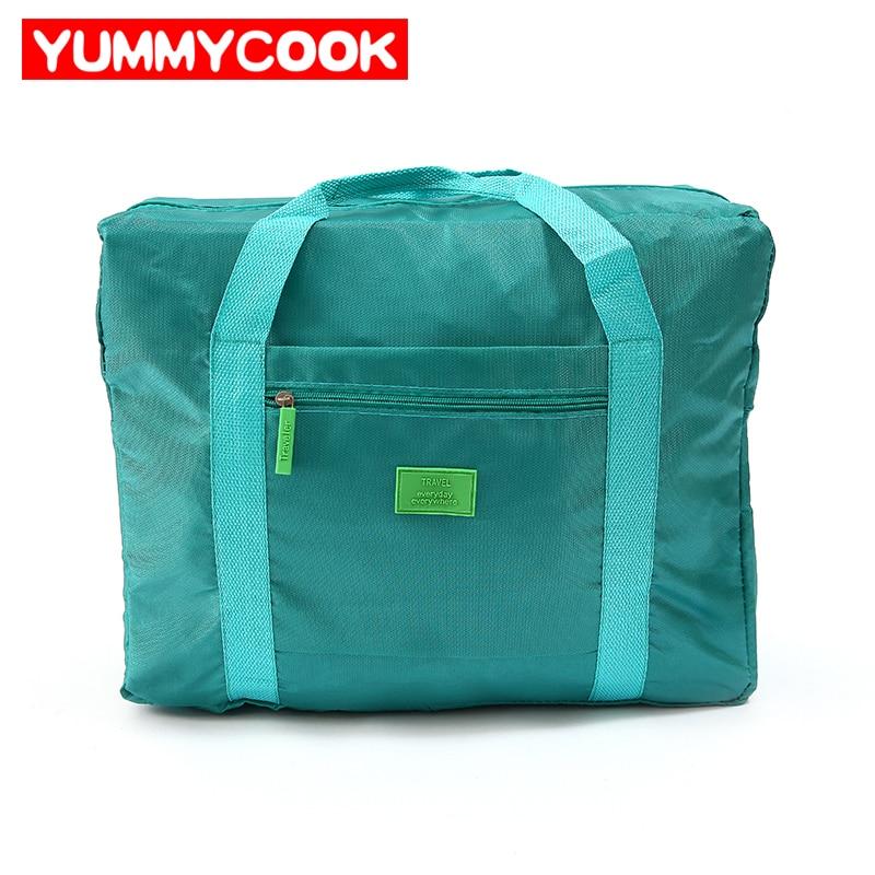 Portatile Pieghevole Grande Capacità di Nylon Abbigliamento Viaggi Storage Bags Organizer Pouch Bagagli Casi Valigia Accessori Forniture