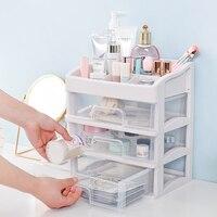 Cosmetic storage box plastic transparent drawer desktop storage rack dressing table cosmetic case skin care products debris rack