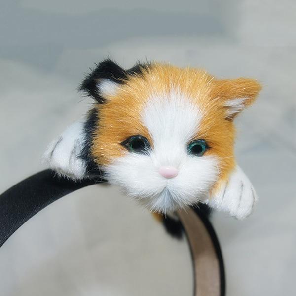 Moda coreano feminino cabelo hoop simulado gato