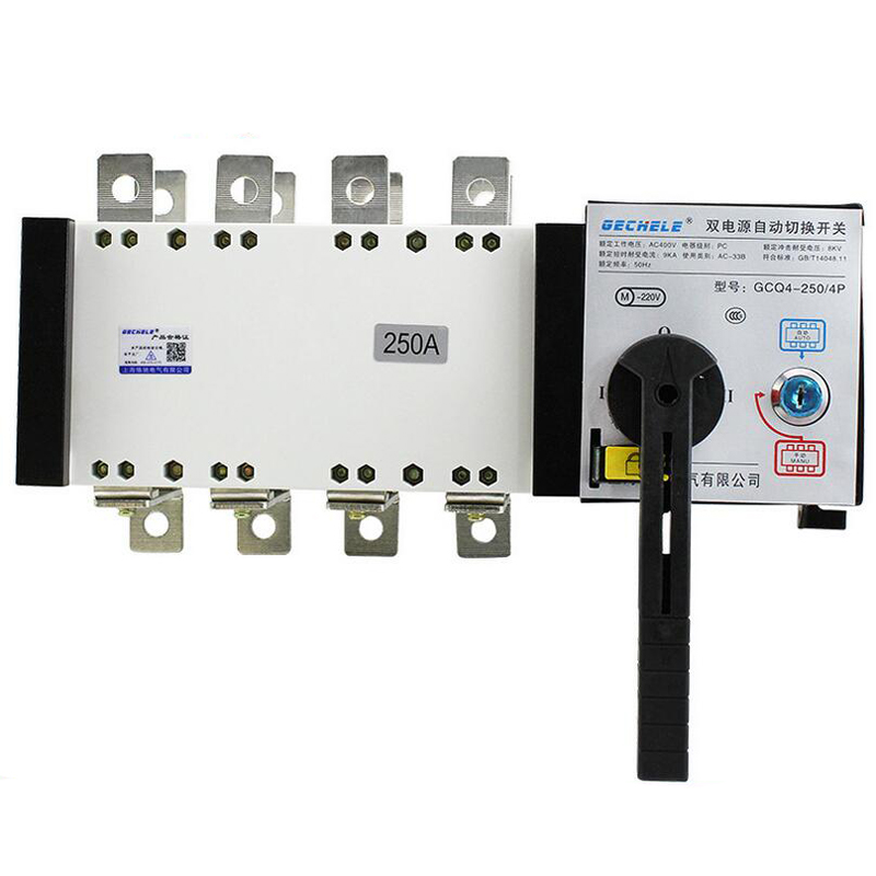 Isolated Dual Power Automatic Transfer Switch 4P 250A Switch PC Level Dual Power Switch ATS