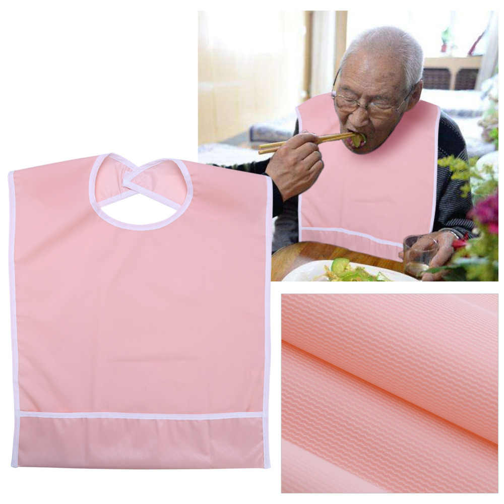 للماء الكبار تناول الطعام مريلة المسنين المرايل الكبار القديم الرجال/النساء لبس عشاء تغذية مريلة الملابس الملابس حامي الطعام المعونة