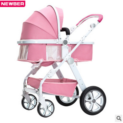 High-view baby stroller can sit flat and four seasons common light portable folding summer children's baby trolley