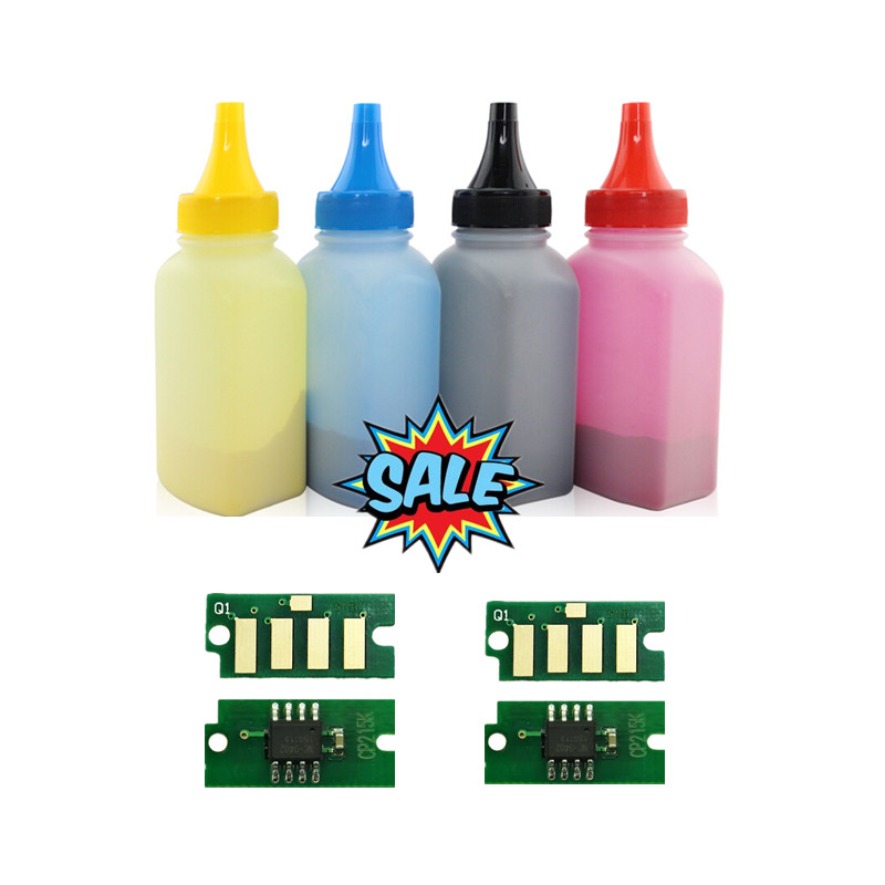 Free shipping 4 bottles+4 pieces chip for Fuji Xerox DocuPrint <font><b>CP105</b></font> CP105b CP205 CP205w laser printer image