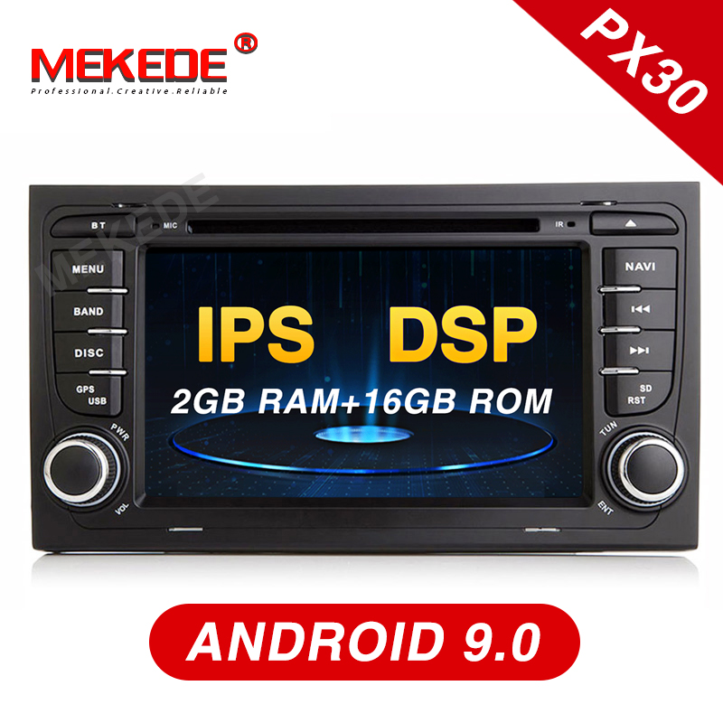 New arrival Mekede PX30 android 9 0 Car multimedia player for audi A4 2002 2008 S4