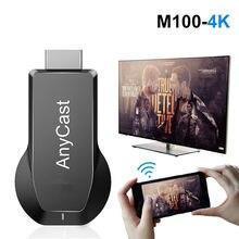M100 TV Vara 2.4/5.8Ghz 4K Sem Fio WiFi Exibição Dongle 1080P HD TV Vara Miracast DLNA Airplay Espelhamento para HDTV Projetor