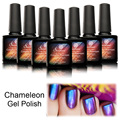 Saviland 1PCS Gel Polish Phantom Chameleon Different Angle Change Glitter Colors 10ml UV Nail Gel Mood Changing Colors