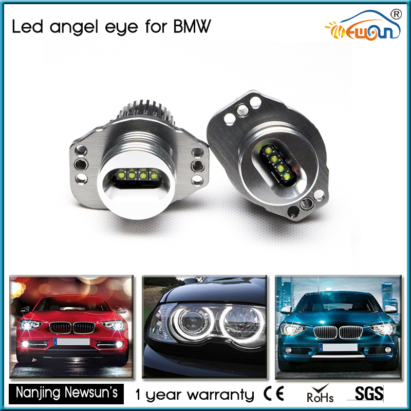 12V 24V 20W CREE Chips LED Angel Eye Light Halo Lights Error free For BMW E90 E91 7000K White 1250lmCREE Chips LED Marker lights