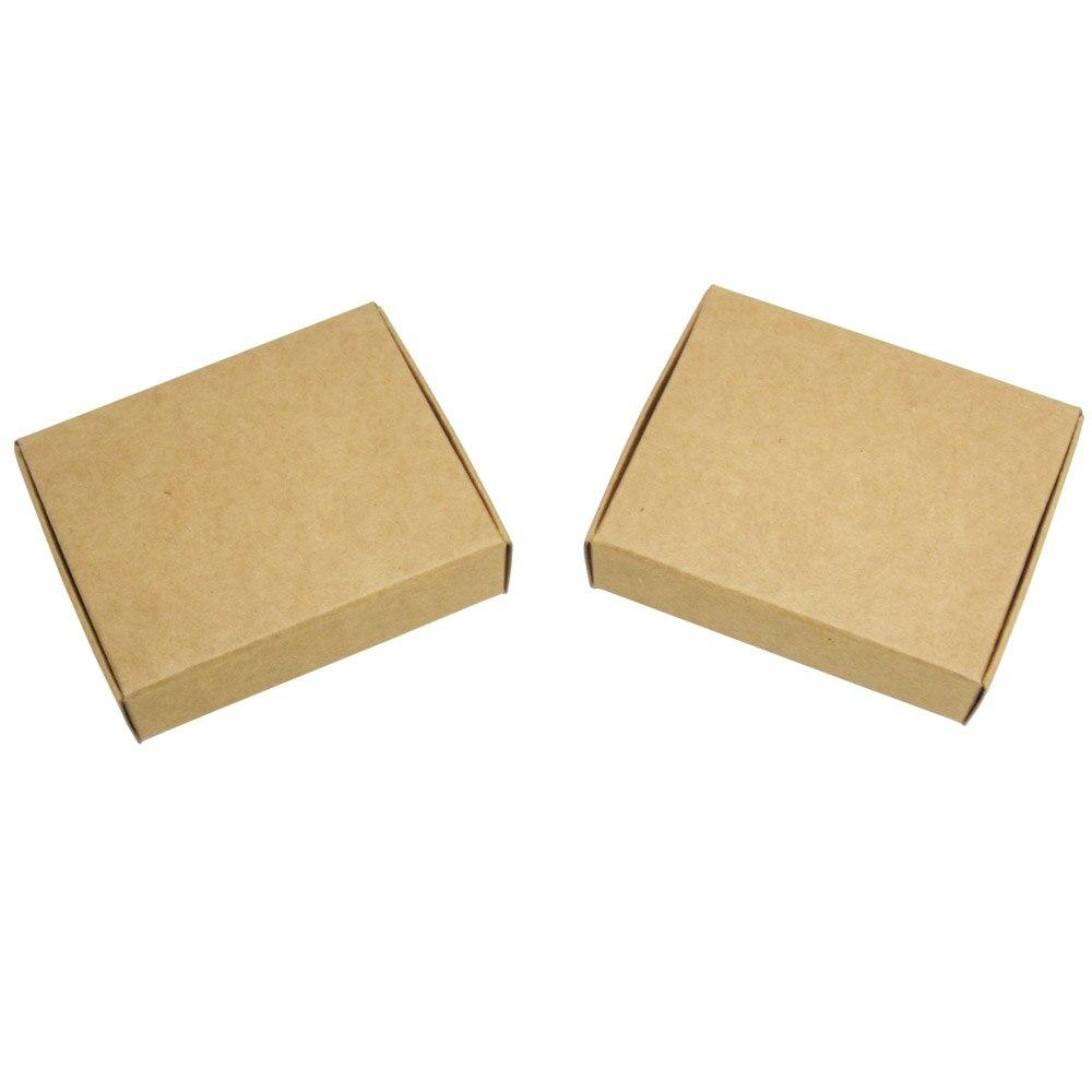 50pcs 8*8*4cm Handmade soap box Black paper boxes small boxes of jewelry box candy box