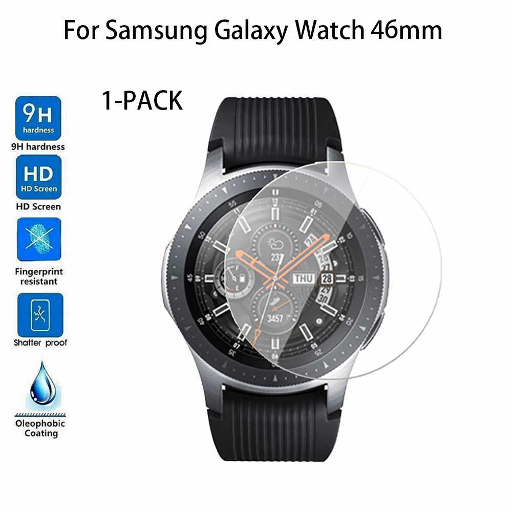 1-PACK Tempered Glass Screen Protector For Samsung Galaxy Watch 46/42 MM Watachband Sporting Goods Accessories